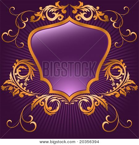 Purple Shaped Shield