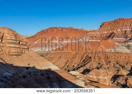 the rugged landscape of the escalante grand staircase in southern Utah