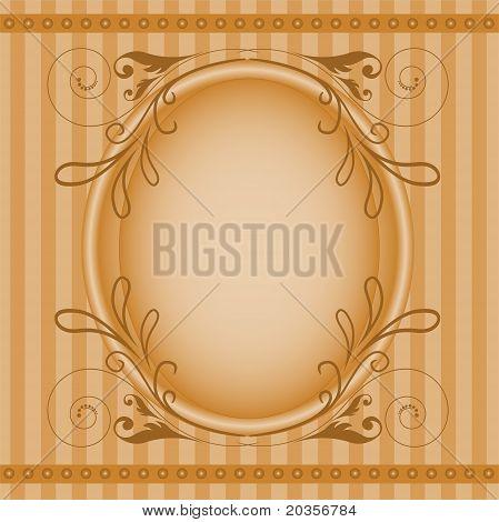 Brown Oval Frame