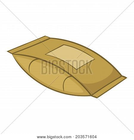 Cement bag icon. Cartoon illustration of cement bag vector icon for web