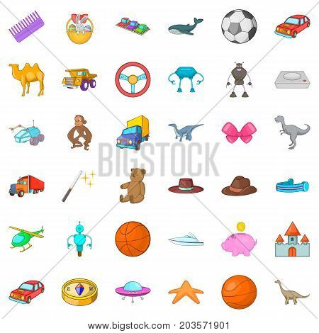 Dolphin icons set. Cartoon style of 36 dolphin vector icons for web isolated on white background