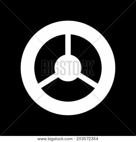 Steering Wheel It Is Icon .