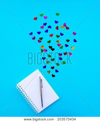 A Creative Idea, A Thought, A Creation Of Thought, Creation Of Ideas, The Notebook, Hearts, Love Of