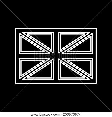 Flag United Kingdom It Is Icon .