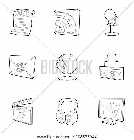 Dispatch icons set. Outline set of 9 dispatch vector icons for web isolated on white background
