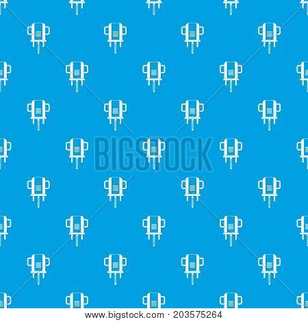 Boer drill pattern repeat seamless in blue color for any design. Vector geometric illustration