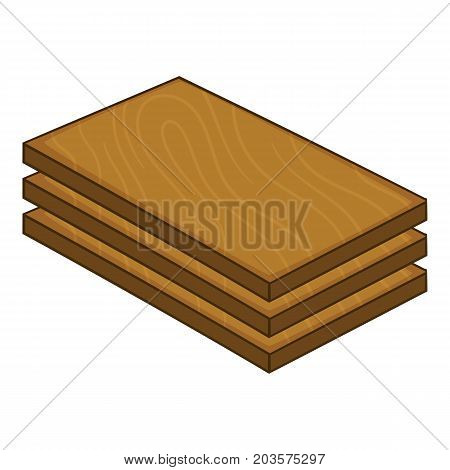 Construction wood icon. Cartoon illustration of construction wood vector icon for web