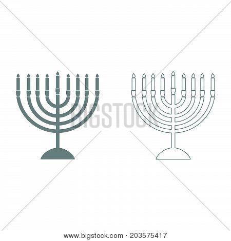 Menorah For Hanukkah It Is Icon .