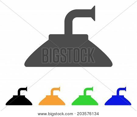 Shower Head icon. Vector illustration style is a flat iconic shower head symbol with black, gray, green, blue, yellow color versions. Designed for web and software interfaces.