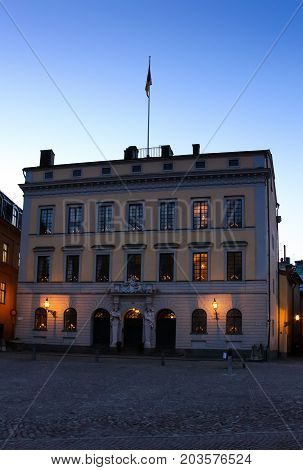 Stockholm Sweden - January 05th 2015: Tessin Palace in Gamla Stan.