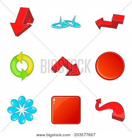 Boom icons set. Cartoon set of 9 boom vector icons for web isolated on white background
