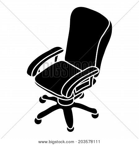 Office chair wheel icon. Simple illustration of office chair wheel vector icon for web design isolated on white background