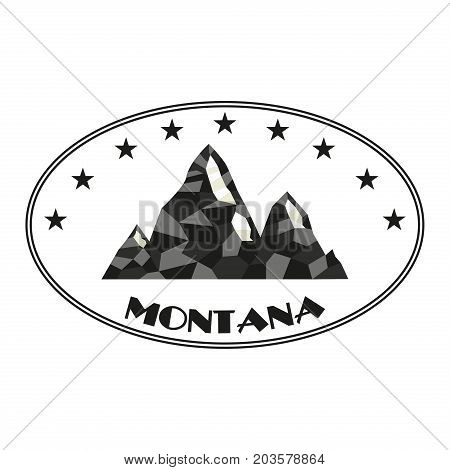 Mountain vector silhouette nature outdoor rocky snow ice top decorative landscape camping logo travel label climbing hill peak hiking badge illustration.