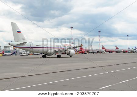 Airbus A320 Rossiya Airlines, Airport Pulkovo, Russia Saint-petersburg August 10, 2017