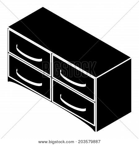 Chest of drawers icon. Simple illustration of chest of drawers vector icon for web design isolated on white background
