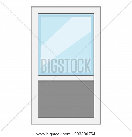 Window frame icon. Cartoon illustration of window frame vector icon for web