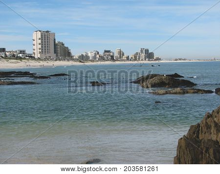 FROM BLOUBERG STRAND, CAPE TOWN, SOUTH AFRICA ON A SUMMER DAY.