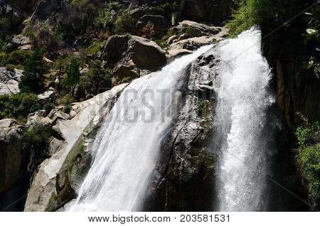Grizzly Waterfall In Sequoia And Kings Canyon National Park, California, Usa