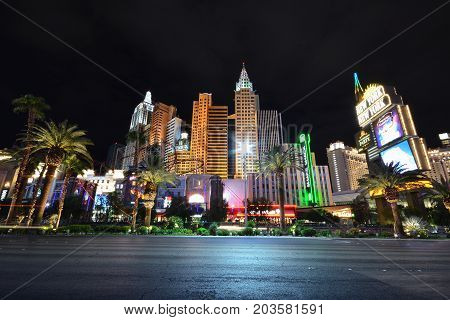 New York New York Hotel And Casino In Las Vegas.