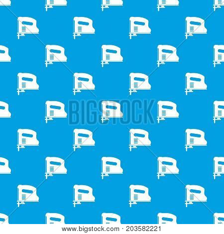Pneumatic gun pattern repeat seamless in blue color for any design. Vector geometric illustration