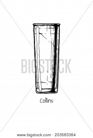Illustration Of Tumbler Glass. Collins.