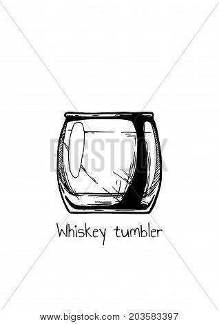 Illustration Of Whiskey Tumbler Glass
