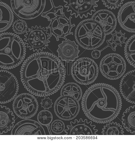 Seamless Pattern With Different Gears