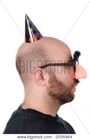 Man With Fake Nose And Hat