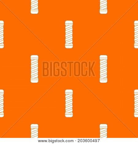 Handle for bike pattern repeat seamless in orange color for any design. Vector geometric illustration