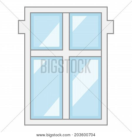Big window frame icon. Cartoon illustration of big window frame vector icon for web