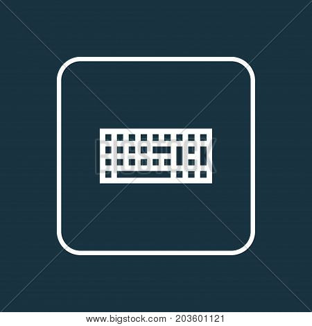 Premium Quality Isolated Keypad  Element In Trendy Style.  Keyboard Outline Symbol.