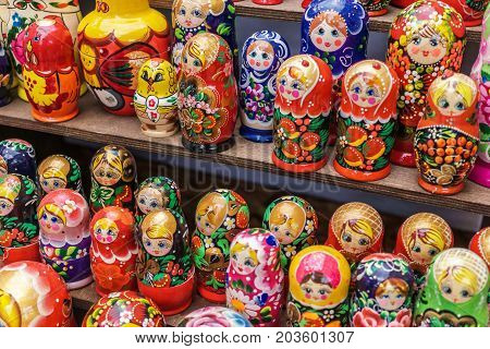 Matryoshka is a Russian wooden toy in the form of a painted doll, inside of which are similar dolls of smaller size