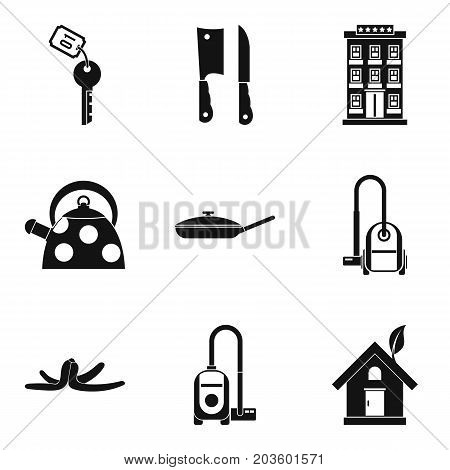 Keep house clean icon set. Simple set of 9 keep house clean vector icons for web design isolated on white background