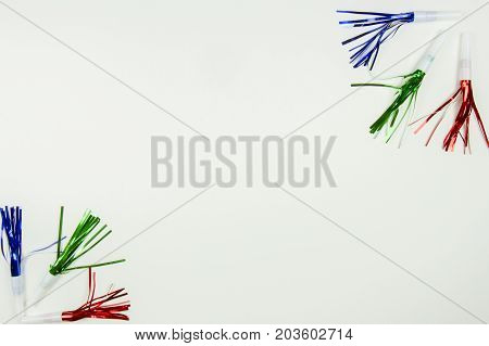 Colorful Party Noise Makers On White