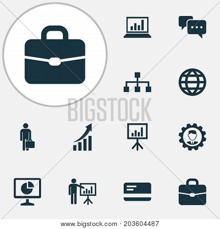Trade Icons Set. Collection Of Earth, Hierarchy, Payment And Other Elements
