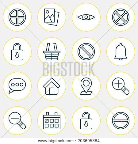 Network Icons Set. Collection Of Obstacle, Positive, Message Bubble And Other Elements