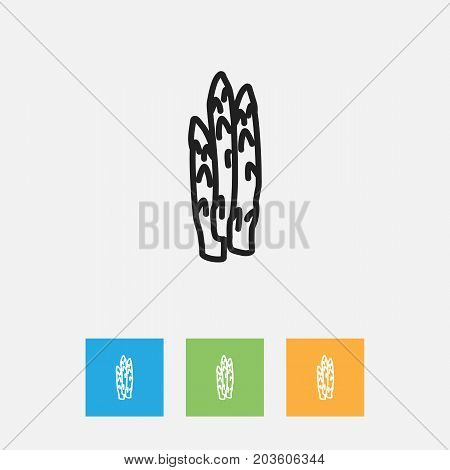 Vector Illustration Of Kitchenware Symbol On Sparrowgrass Outline