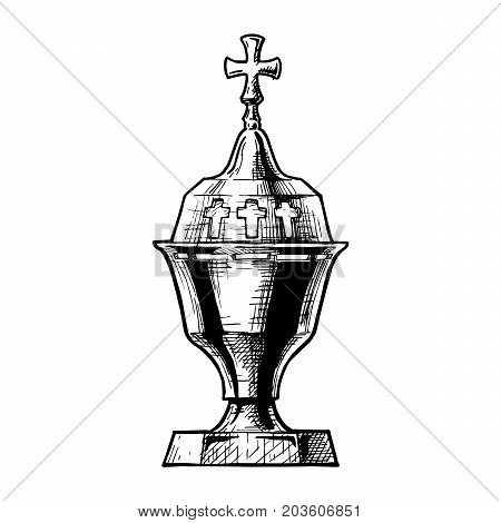 Vector Illustration Of Sanctuary Lamp