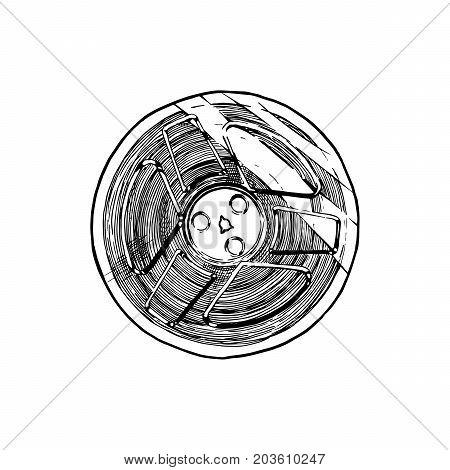 Vector Illustration Of Tape Reel