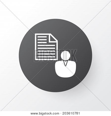 Premium Quality Isolated Report Element In Trendy Style.  Client Brief Icon Symbol.