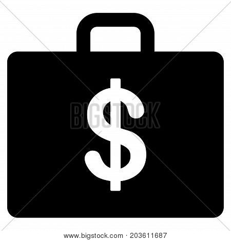 Business Case vector icon. Flat black symbol. Pictogram is isolated on a white background. Designed for web and software interfaces.