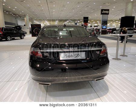 Backside Of Black Saab 95 On Display