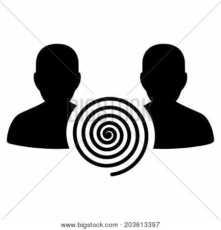 Hypnosis Sect vector icon. Flat black symbol. Pictogram is isolated on a white background. Designed for web and software interfaces.