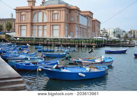 The beautiful Margherita Theatre near sea. Bari. Apulia.