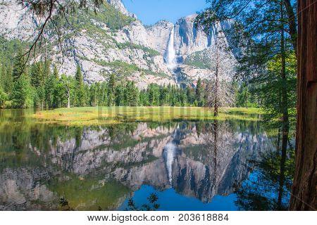 Yosemite Falls Yosemite National Park California State in USA