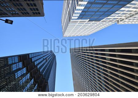 Skyscrapers Perspective Photograph