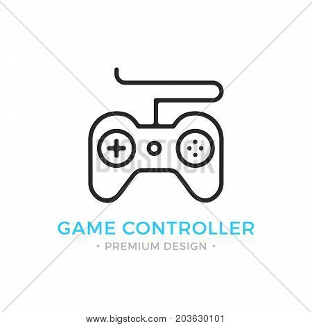 Game controller icon. Outline gamepad logo. Modern vector thin line icon isolated on white background