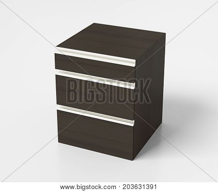 Drawer Chest On White Background