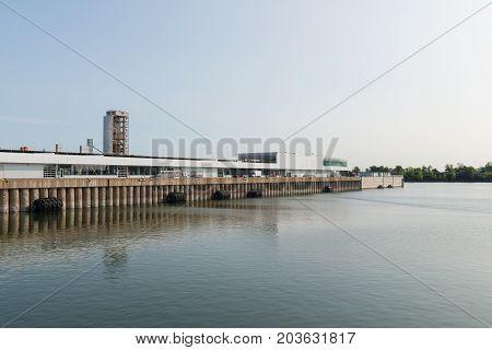 Cruise ship terminal Alexandra Quay Montreal Quebec Canada