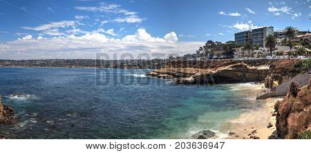 Coastline Of La Jolla Cove In Southern California